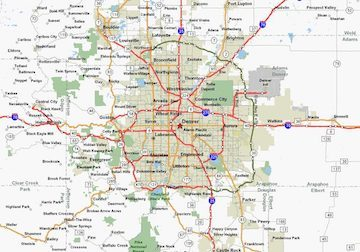 Denver Colorado Area Metro Map